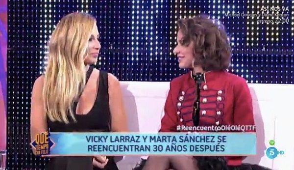 Marta Sánchez y Vicky Larraz recuerdan el éxito de Olé Olé